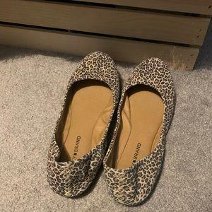 Lucky Brand Fall Leopard Flats Size 9.5